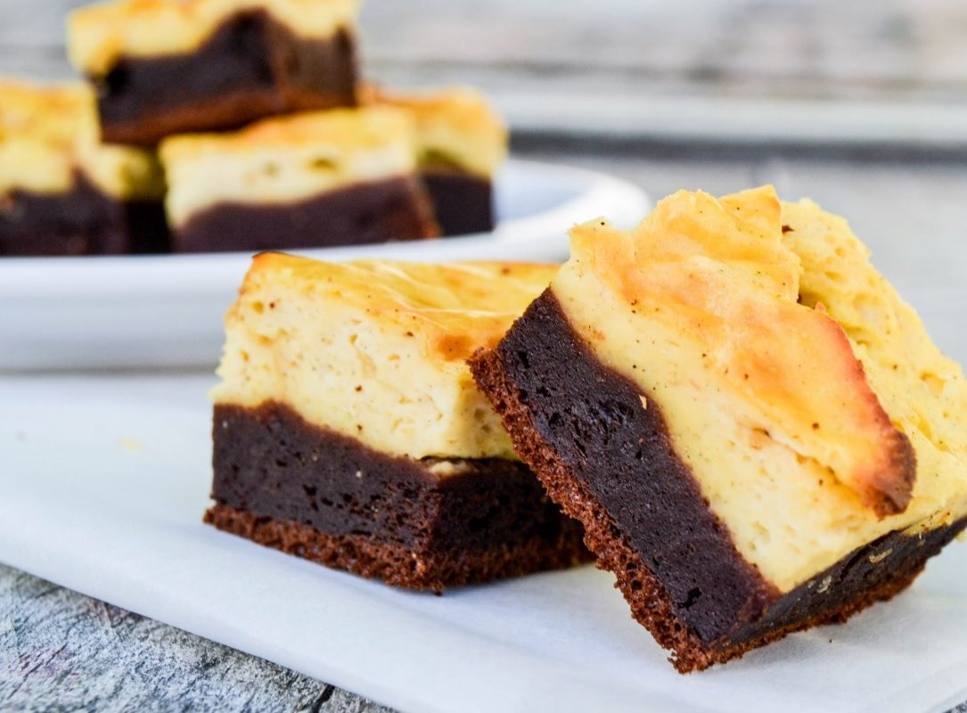 gezonde cheesecake brownies