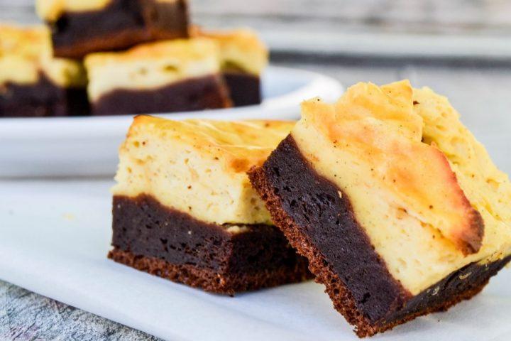 gezonde cheesecake brownies