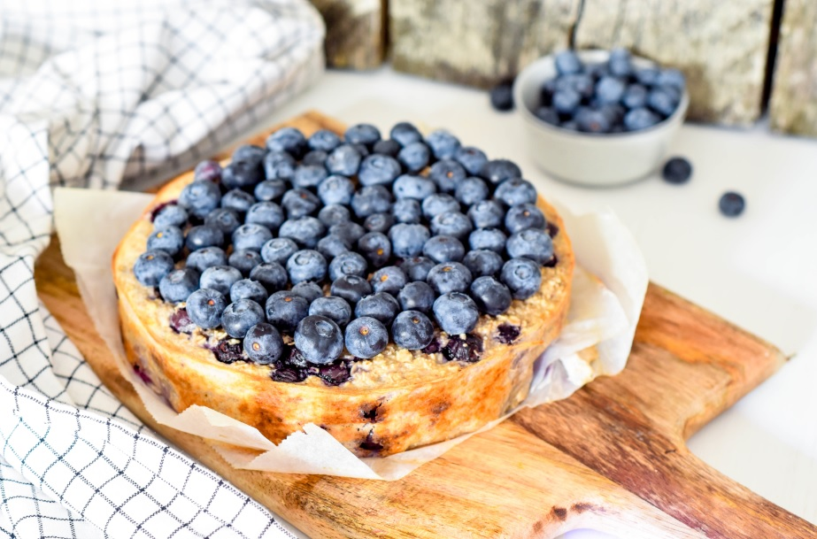 Blueberry havermout taart