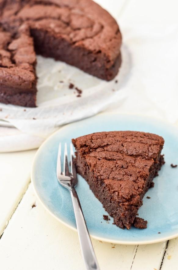 Goddelijke suikervrije en glutenvrije chocoladetaart!