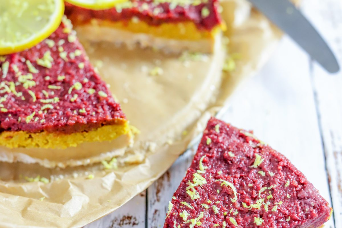vegan cheesecake citroen