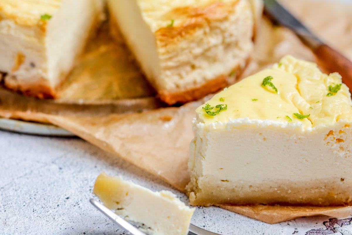suikervrije cheesecake limoen