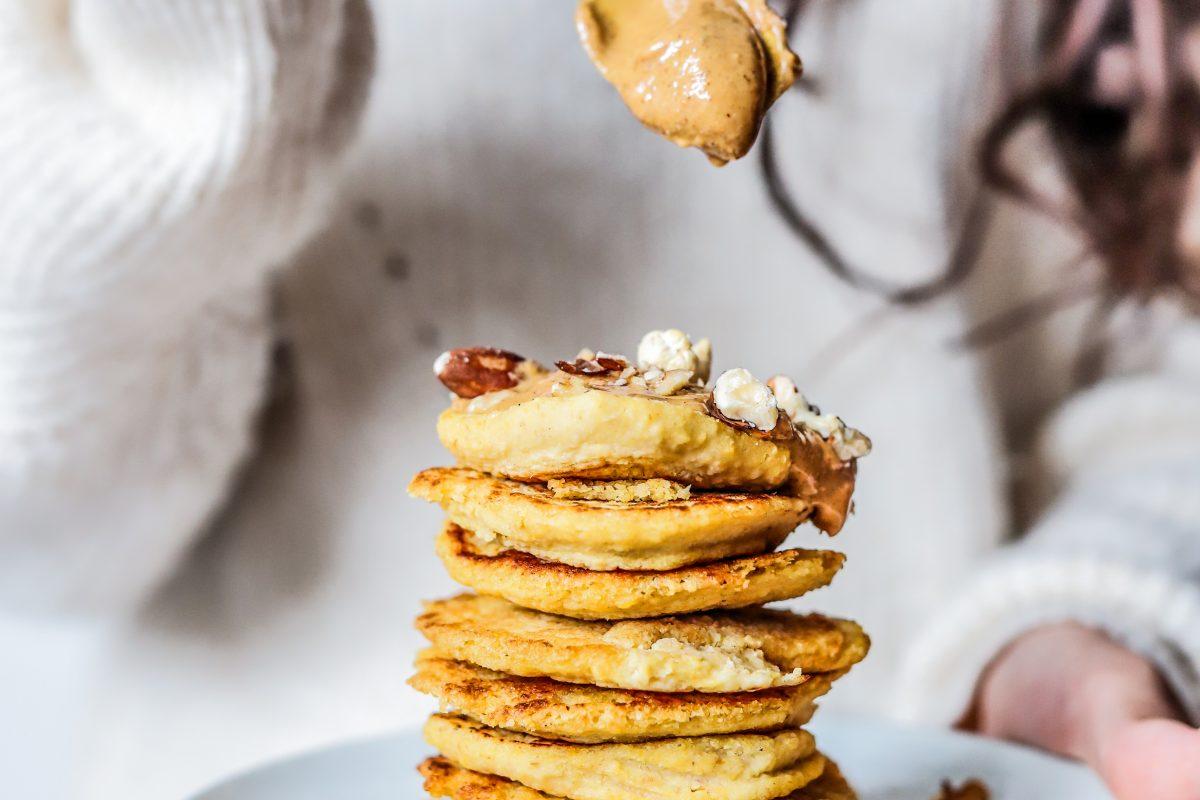 nutty pancakestack